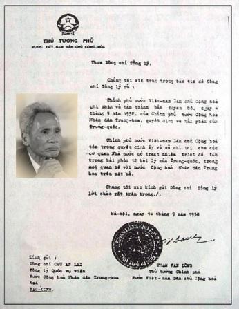 Công hàm 1958 chet  yeu