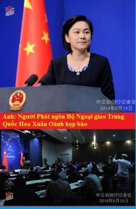 Phát ngôn Bộ Ngoại giao Trung Quốc Hoa Xuân Oánh