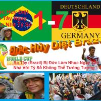 ĐỨC THẮNG BRAZIL 7-1 Ở WORLD CUP 2014 LÀ MỘT THẢM HỌA ĐỐI VỚI BRAZIL