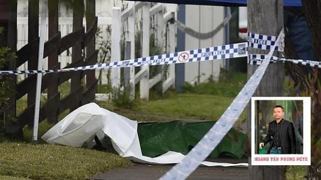 Thi thể của Hoang tại công viên. Ảnh: Sydney Morning Herald